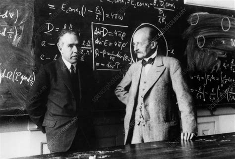 Niels Bohr and Max Planck - Stock Image H400/0109