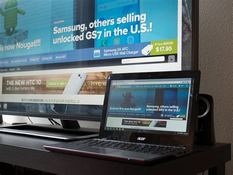 Using your Chromebook with an external monitor, mouse and