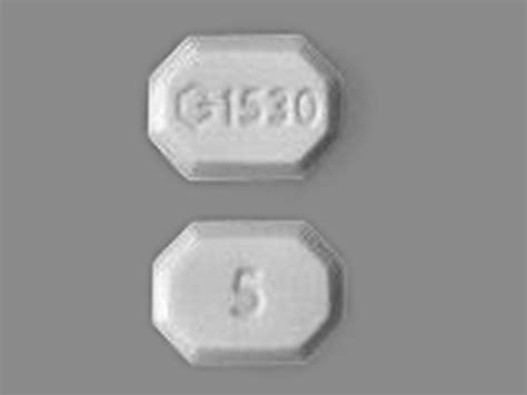 G1530 5 Pill Images (White / Eight-sided)