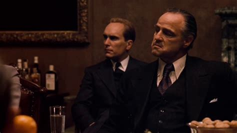 Vito corleone meeting the heads of the five families